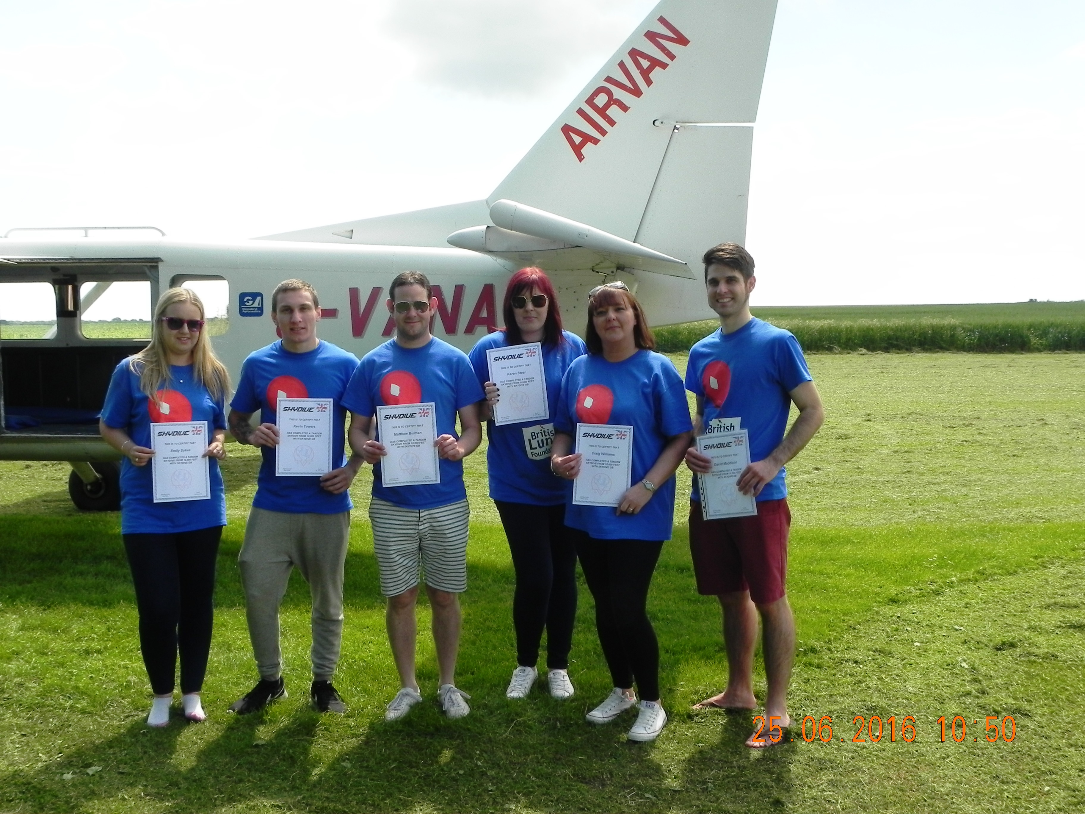 bradley environmental 25 year anniversary skydive justgiving